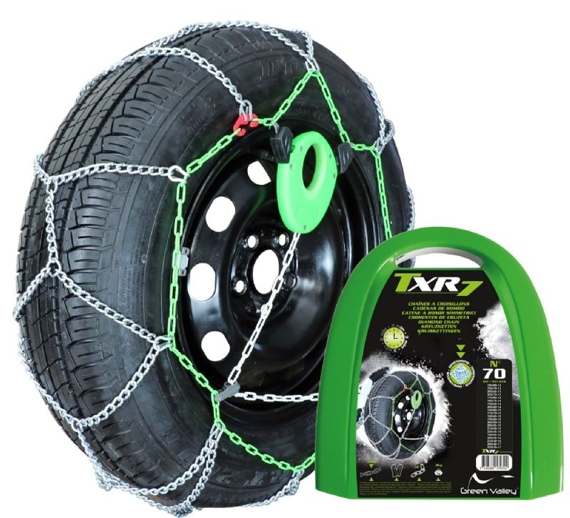 TXR High Tensile 7mm Snow Chains | Ford Fiesta 1.0L Ecoboost